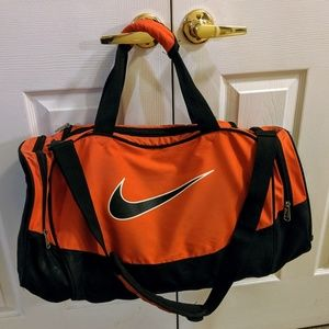 Orange Nike Medium Duffle Bag